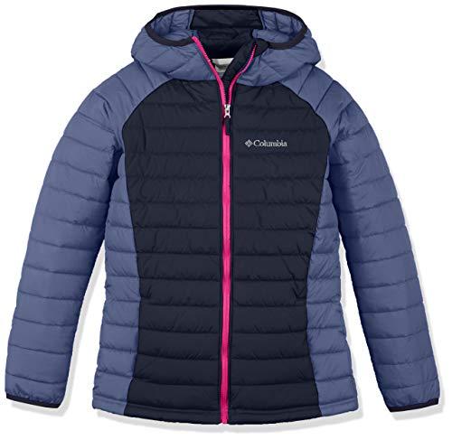 Columbia Wasserabweisende Jacke für Mädchen, Powder Lite Hooded Insulated Jacket, Polyester, blau (nocturnal/eve), Gr. 4T, EG0009 (4t Jacke Columbia)