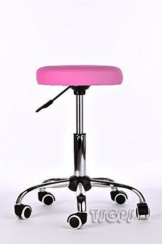 Kosmetik Arbeitshocker Massage Hocker , höhenverstellbar, rosa pink