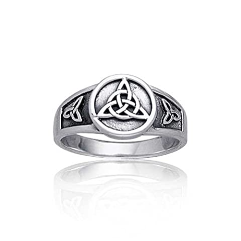 Bling Jewelry Sterling Silber Triquetra Celtic Knot Ring