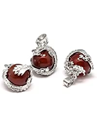 Pendentif dragon - Agate Rouge (Protection) - Rouge, 1
