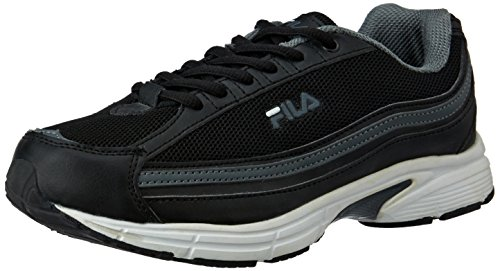 10. Fila Men's Galileo Black Sneakers