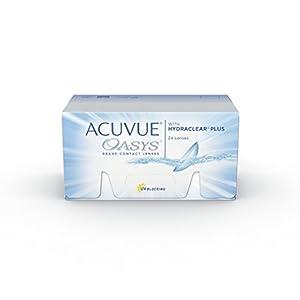 ACUVUE OASYS Kontaktlinsen – 2-Wochen-Linsen für Tag und Nacht mit -1.75 dpt und BC 8.4 – UV Schutz, Austrocknungsschutz & extrem hoher Tragekomfort – 24 Linsen