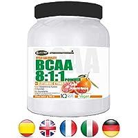 Preisvergleich für BCAA pulver 811 hochdosiert 150GR Aminosäuren mit Glutamin Kyowa GESCHMACK Orange | 0,15 g pro Dosis von Kohlenhydraten...