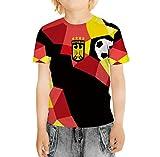 BesserBay Kinder DEUTSCHLAND Fan TShirt Weltmeisterschaft 2018 Fußball Trikot U1102 122/128