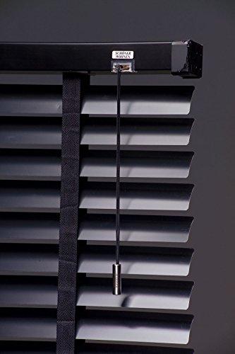 Schöner Wohnen Jalousie Shanghai schwarz 60x180cm Horizontal-jalousie