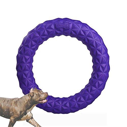 HongYH Hund Spielzeug kauen Ring, PET TRAINING Frisbee Interaktive Backenzähne Zahn Reinigung für Hunde, bissfest Bubble Hund Spielzeug für Outdoor Spielen Training -