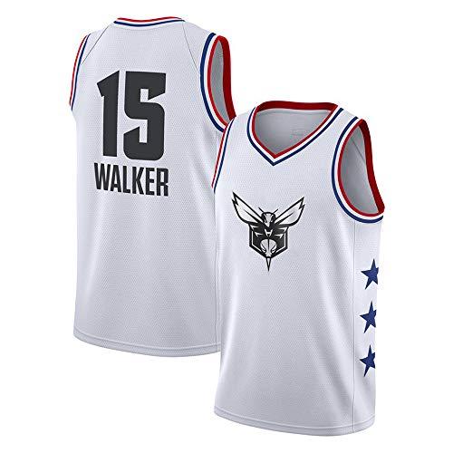 Herren Retro Basketball Uniform NBA Wasp #15 Walker Sommersport Trikot, Basketballhemd Klassisches Stickerei-Top (Uniformes De La Nba)