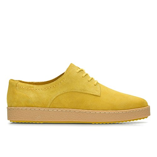 Clarks Lillia Lola, Sneakers Basses Femme Jaune (Yellow Suede)
