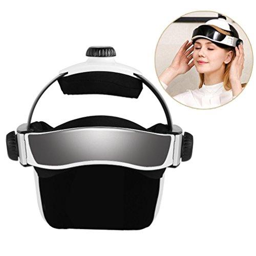Masajeador eléctrico de la cabeza, multi-direccional de la vibración neumática inteligente con sendación de presión como dedos, masaje de relajación con música relajante, masajedor de casco