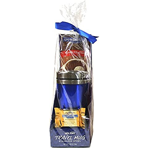 Ghirardelli Holiday Travel Mug Gift Set - Blue Mug by Ghirardelli