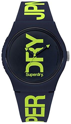Superdry Homme Analogique Quartz Montre avec Bracelet en Silicone SYG189UN