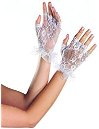 Be Wicked Women's Fingerless Wrist Length Lace Gloves