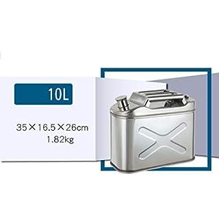 Iahshion Metal/Steel Jerry Can Suits Fuel Diesel Petrol (10L,15L,20L),10L
