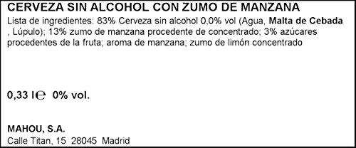 San Miguel - helles alkoholfreies Bier mit Apfelsaft - 1 x 0,33 l