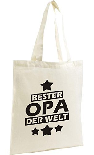 shirtstown Shopping-Bag organico Zen, SHOPPER MIGLIORI Nonno del mondo Naturale