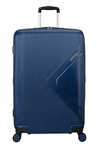 American Tourister Modern Dream Spinner Espandibile Valigia, 77.5 cm, 114 L, Blu (True Navy)