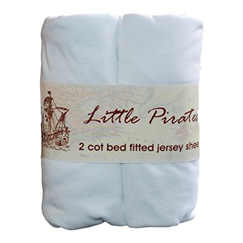 comprare on line 2x lenzuolo con angoli per lettino bambini 70x 140100% cotone jersey–bianco prezzo