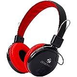 Zebronics ZEB-RAGA Bluetooth Headset Headphone Wireless Over Ear Music With Mic ( Red)