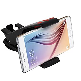 Abco Tech Cell Phone Holder for Car Dashboard - Sturdy Mobile Phone Car Mount with 360 Rotation (Black/Red)
