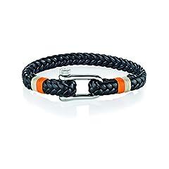 Idea Regalo - MORELLATO Bracciali di corda Uomo acciaio_inossidabile - SAJC09