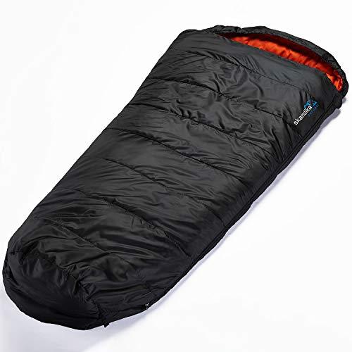 skandika Vegas XXL Schlafsack mit viel Bewegungsfreiheit (schwarz)