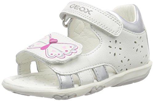 Geox B SANDAL NICELY C, Baby Mädchen Lauflernschuhe, Weiß (WHITEC1000), 20 EU