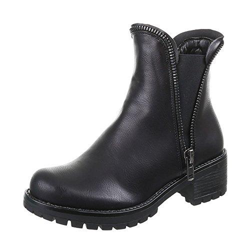 Sapatas Das Senhoras, 53006-pa, Ankle Boots Pretas 1
