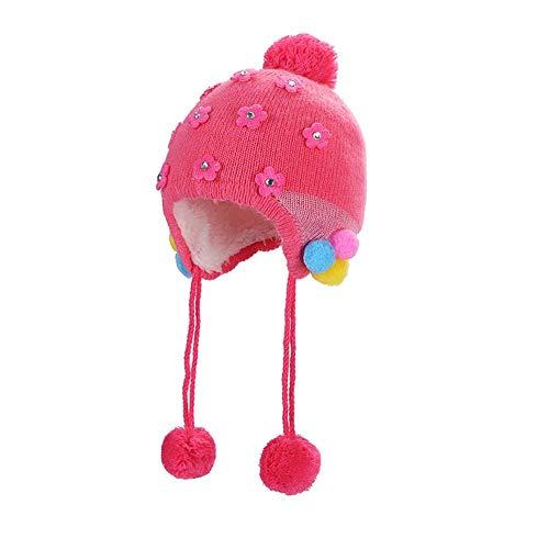 Kinder Winter warme Mütze, Baby-Kleinkind-Mütze warme Mütze für den Winter, stricken Slouchy Beanie Chunky Baggy-Hut für Jungen Mädchen 0-12 Monate -