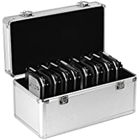 GLOTRENDS B86 Aluminium Protection Case for 8 * 3.5 and 6 * 2.5 Inch HDD/SDD Argent Fundas Suitcase, Plata, Aluminio