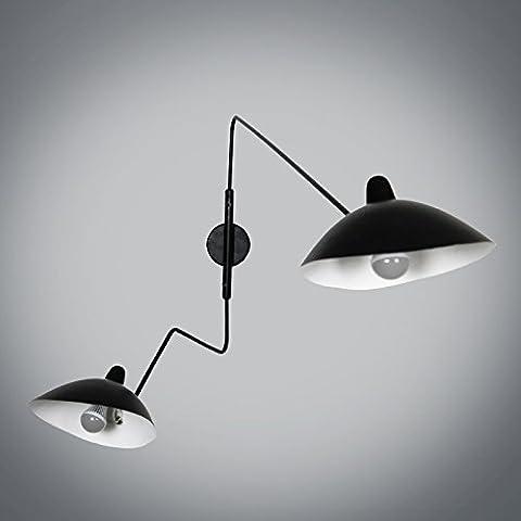 Lampada da parete doppia parete stile nordico semplice parete lampada camera soggiorno idee in ferro battuto