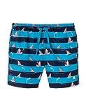 Schiesser Jungen Shark Fever Swimshorts Badeshorts, Blau (Admiral 801), Herstellergröße: 116