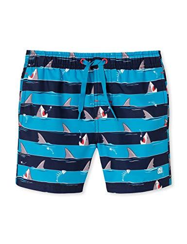Schiesser Jungen Shark Fever Swimshorts Badeshorts, Blau (Admiral 801), (Herstellergröße: 104)