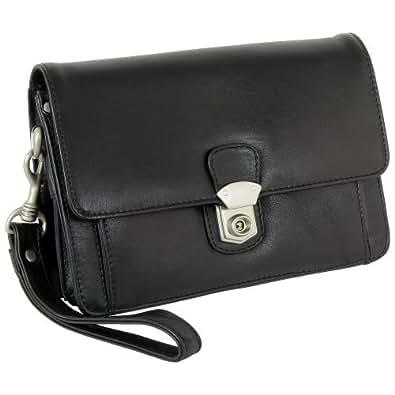 Branco Business Herren Handgelenktasche Herrentasche Tasche schwarz | braun | natur Leder – sehr hochwertig