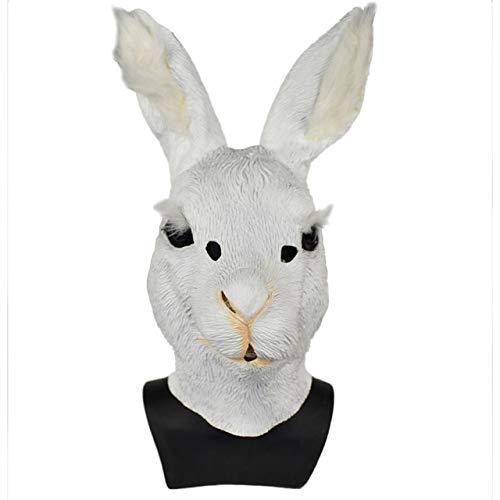 Niedlichen Kostüm Bunny - KBWL Animal Head Mask Realistische Bunny Rabbit Mask Niedlichen Hasen Halloween Kostüm USA Niedlichen Kaninchen