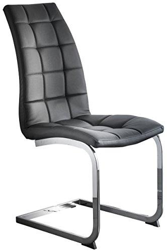 Demeyere 12474Lugano 2Stück Stühle Metall Chrom Schwarz 42x 64x 99,5cm -
