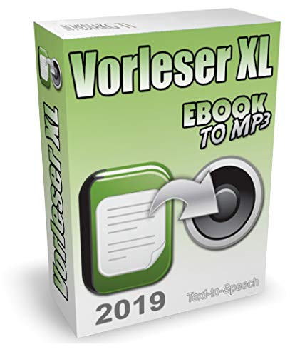 Vorleseprogramm (2019) und TTS-Software zum Text in Sprache umwandeln - Text vorlesen lassen für Word, PDF, eBooks, E-Mails, TXT, Internetseiten usw. Auf Wunsch kann die Vorlesesoftware auch Text in MP3 konvertieren