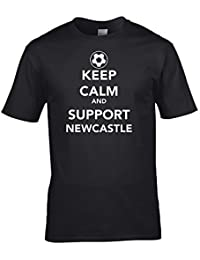 Ice-Tees Keep Calm and Support Newcastle - Football supporter Men's T-Shirt