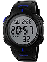 Naivo Men's Quartz Stainless Steel and Plastic Casual Watch Color:Black (Model: NAIVO-WATCH-1121)