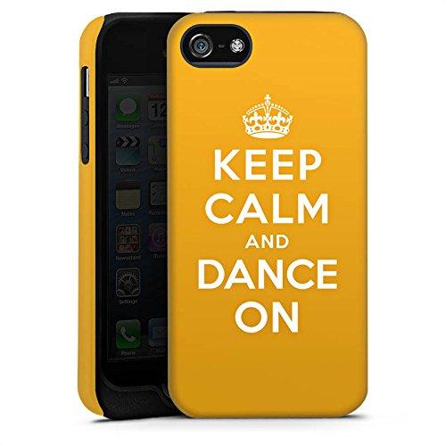 Apple iPhone X Silikon Hülle Case Schutzhülle Keep Calm Tanzen Dance Tough Case matt