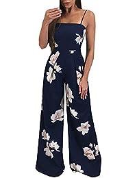 JiaMeng Jumpsuit - Pantaloni da Donna con Tuta Aderente Aderente da  Clubwear da Donna Body Monopezzi e Tutine Tuta da Jersey… 29c40cb6905
