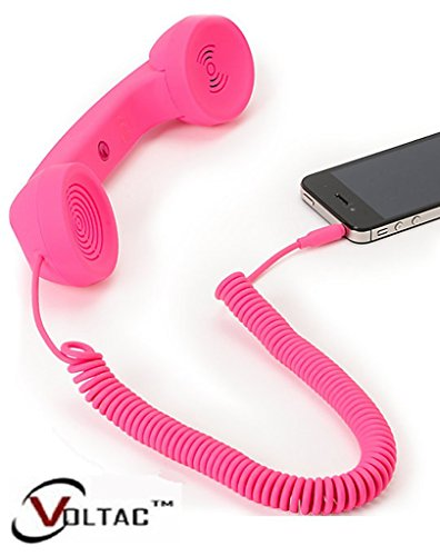 VOLTAC` ™ Anti-radiation Retro Style 3.5mm Jack Wired Handset Phone iPhone 5/5c/5s/4/4s/HTC/Samsung/Nokia/Blackberry/Sony/LG etc.  available at amazon for Rs.485