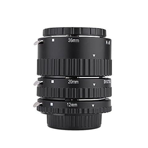 Meike MK-N-AF1-B Elektronische Berg Auto Focus Macro Extension Tube Set Ring für Nikon D7100 D7000 D5200 D5100 D5000 D3100 D3000 D800 D600 D300 D300 D90