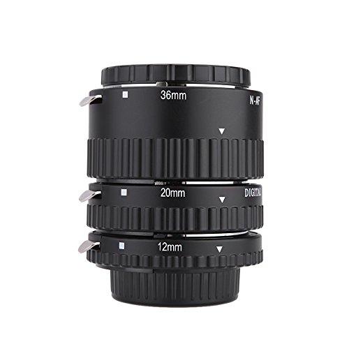 Meike MK-N-AF1-B Elektronische Berg Auto Focus Macro Extension Tube Set Ring für Nikon D7100 D7000 D5200 D5100 D5000 D3100 D3000 D800 D600 D300 D300 D90 D80 (Nikon-dslr D300s Kit)