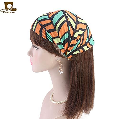mlpnko Frau Erweiterung Turban Cap elastisches Stirnband