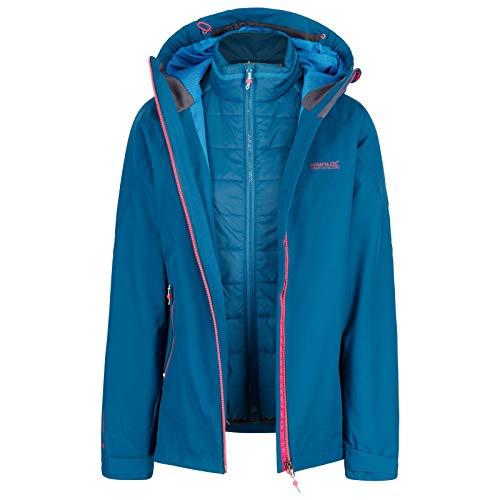 Regatta Damen Wentwood III 3 in 1 Waterproof and Breathable with Zip-Out Fleece Jacke, Marokkoblau, 42 Zip Damen Fleece