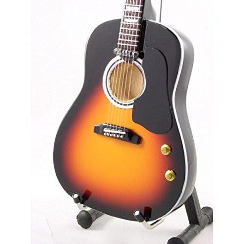 Guitarra Miniatura Réplica - Acústicas Sunburnst por John Lennon 'los Beatles'