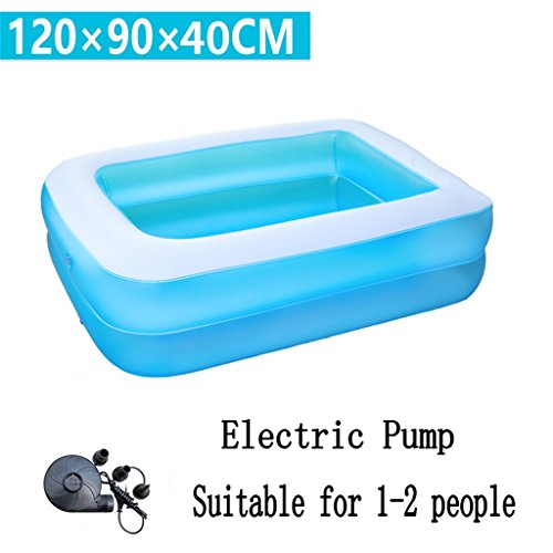 Praktische tragbare Kind erwachsene aufblasbare Ba Kleine aufblasbare Badewanne / Pool Paddling Pool Meer Ball Pool für Kind / Baby / Familie mit Fuß / Elektrische Pumpe Geeignet für 1-2 Personen (120 * 90 * 40cm) QLM-Inflatable Bathtub and Inflatable plunge bath ( ausgabe : Electric Pump ) -