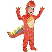 Amscan 844661-55) - Disfraz infantil con diseño Dinosaurio, talla S 4-