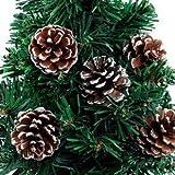 sweeTvT-NEW Weihnachtsbaum Dekoration anhänger Natur Kiefer Obst schaufenster Hotel Familie Urlaub Dekoration, 3-4 cm (9 STÜCKE)