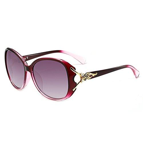 Songlin@yuan Polarisierte hochwertige Sonnenbrillen Damenmode Fox Kopfform UV400 Sonnenbrille übergroßen Kristallrahmen Sonnenbrille klar (Color : 1)